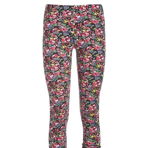 c944dd3871b438 Docele Pants | Pink Floral Fleecelined Leggings | Poshmark